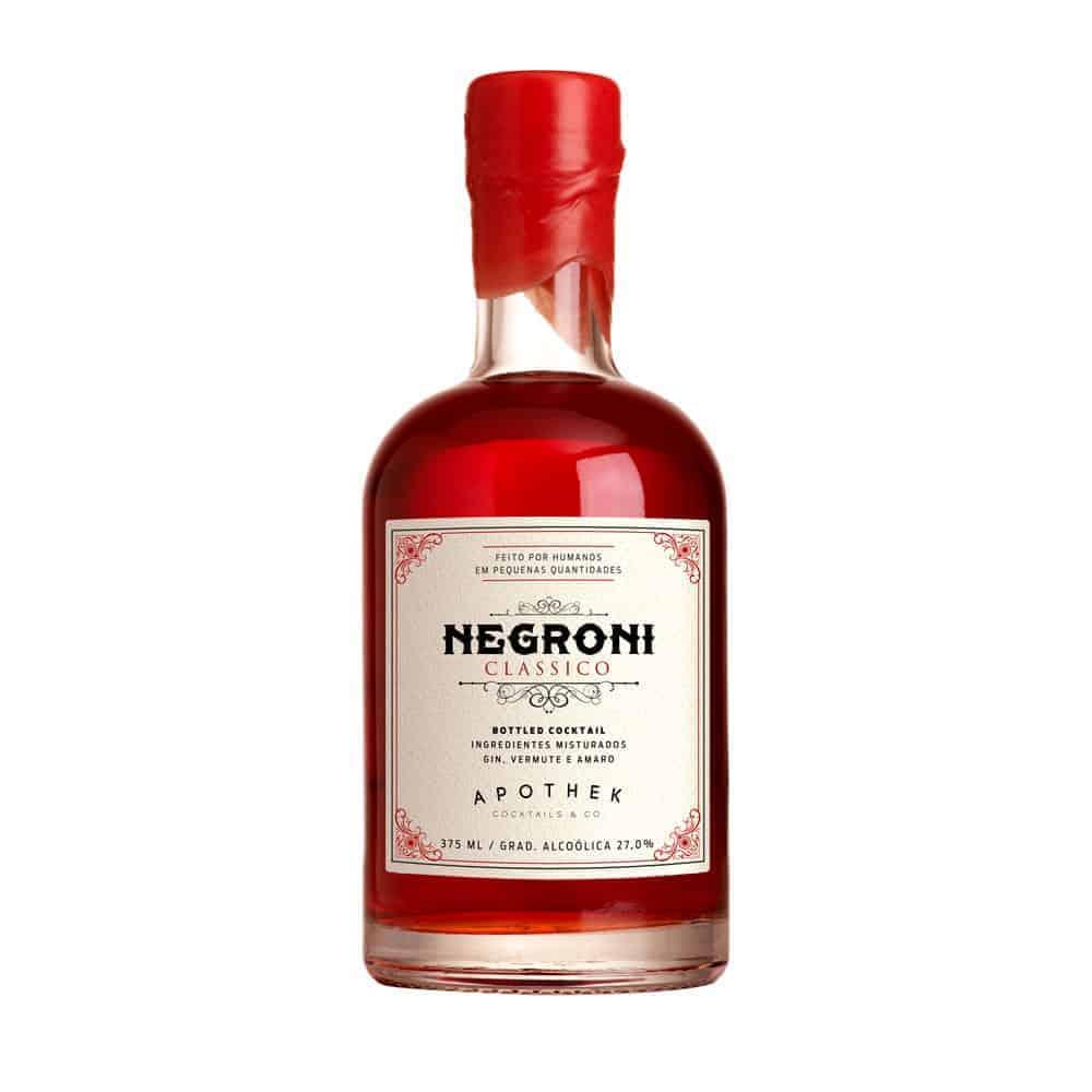 Coquetel Engarrafado Drink 375ml Negroni Clássico APOTHEK