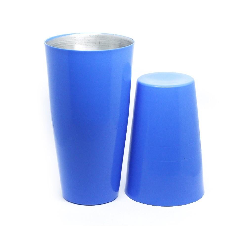Coqueteleira Boston Alumínio 28oz e 18oz | Pintura Azul