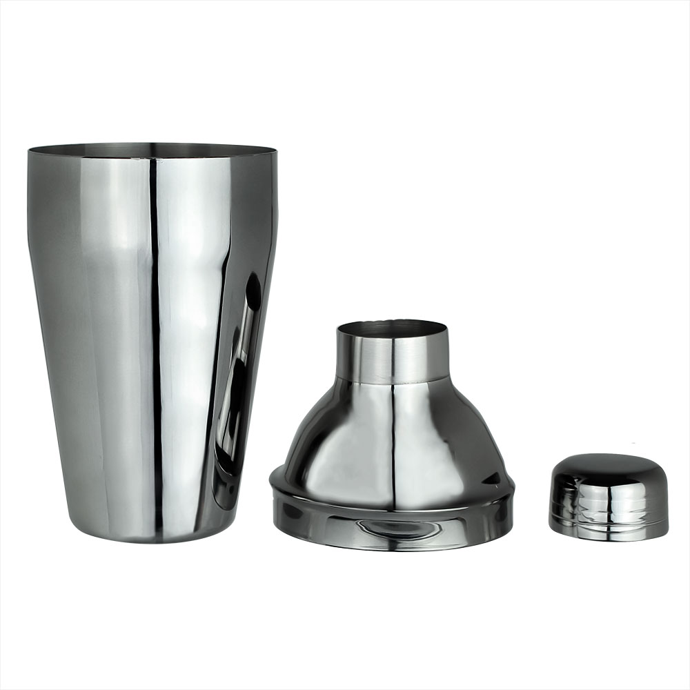Coqueteleira Cobbler Tradicional Black Titanium Inox 550 ml