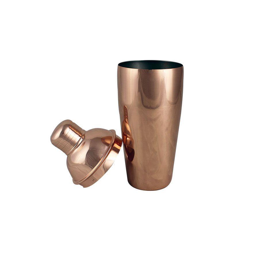 Coqueteleira de 500ml Bronze Cobre Escuro