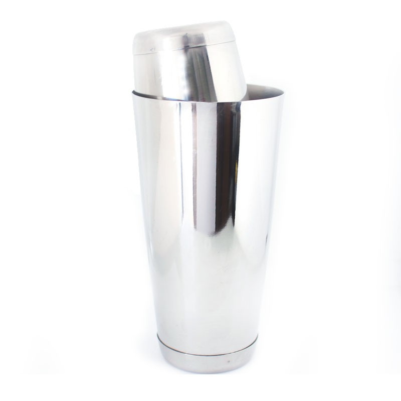 Coqueteleira Boston e Mini Tin Inox 28oz e 16oz com peso