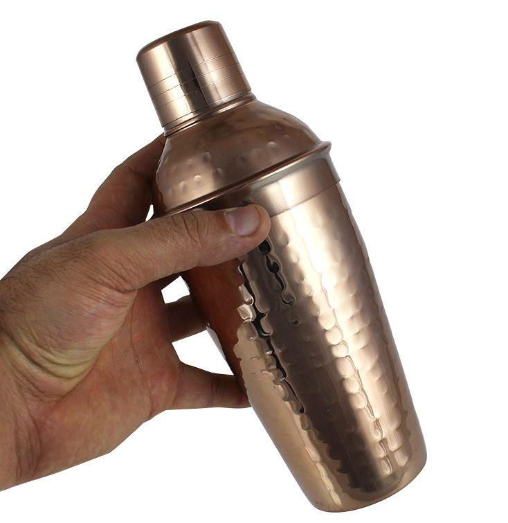 Coqueteleira em Aço Inox Cobre Escuro 500ml