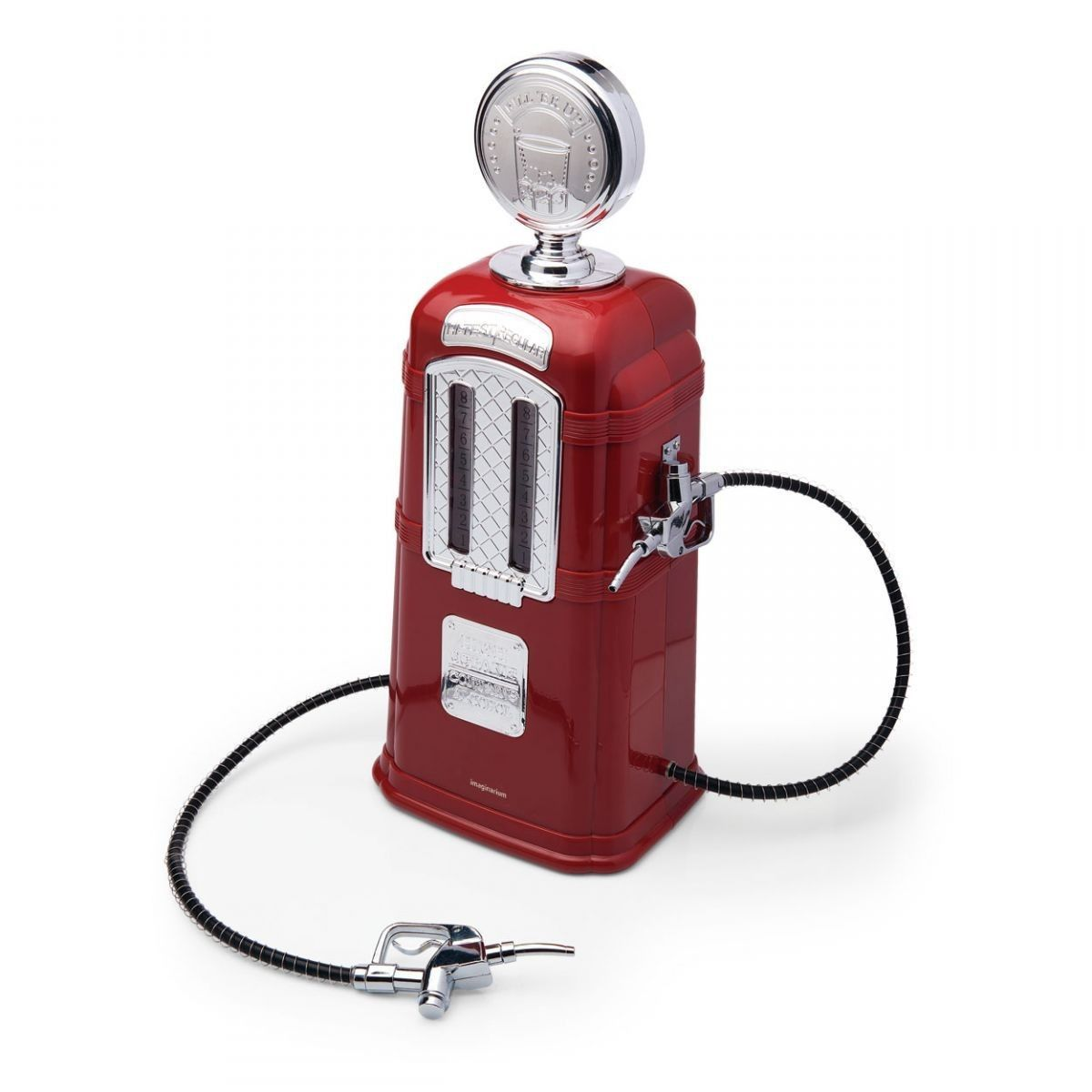 Dispenser de Bebidas Bomba de Gasolina Vermelha Retrô