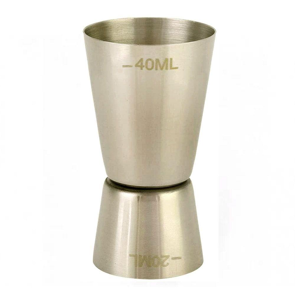 Dosador de Bebidas Duplo Inox 20ml x 40ml