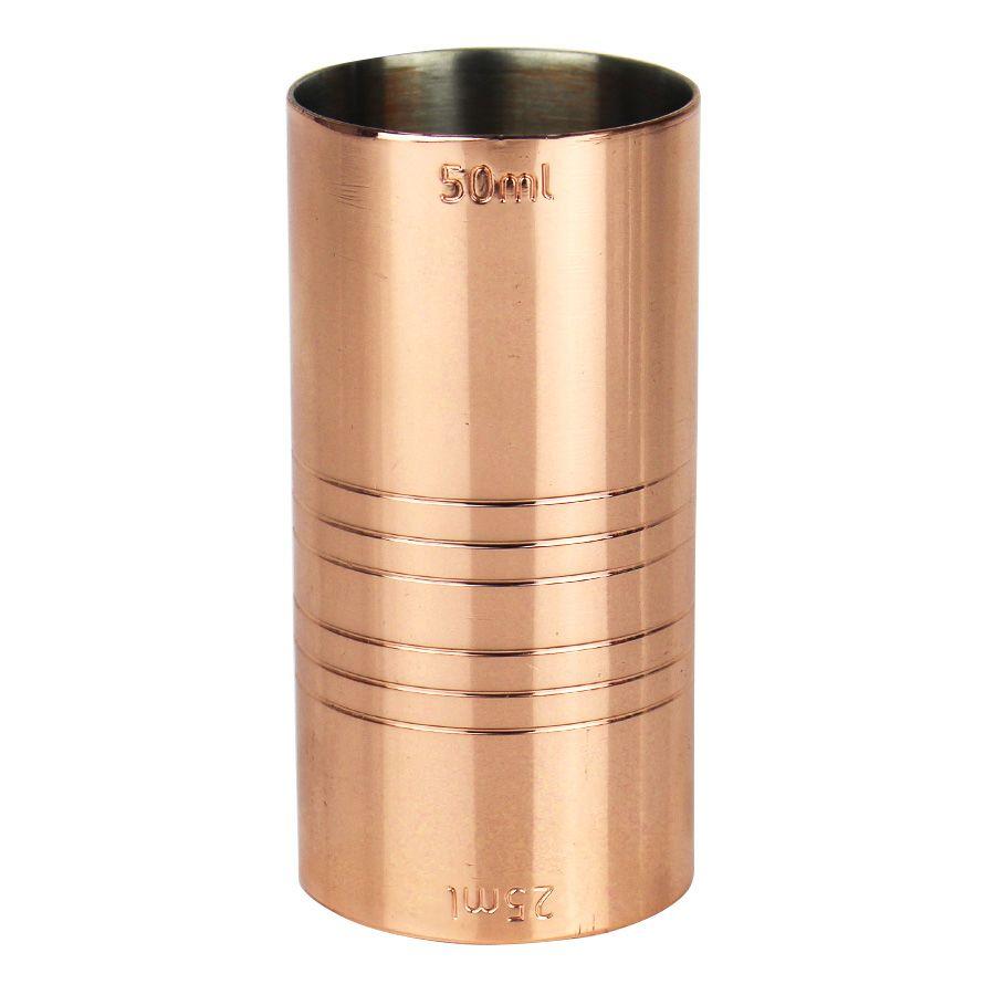 Dosador de Cobre Duplo 25ml e 50ml com 7,5cm