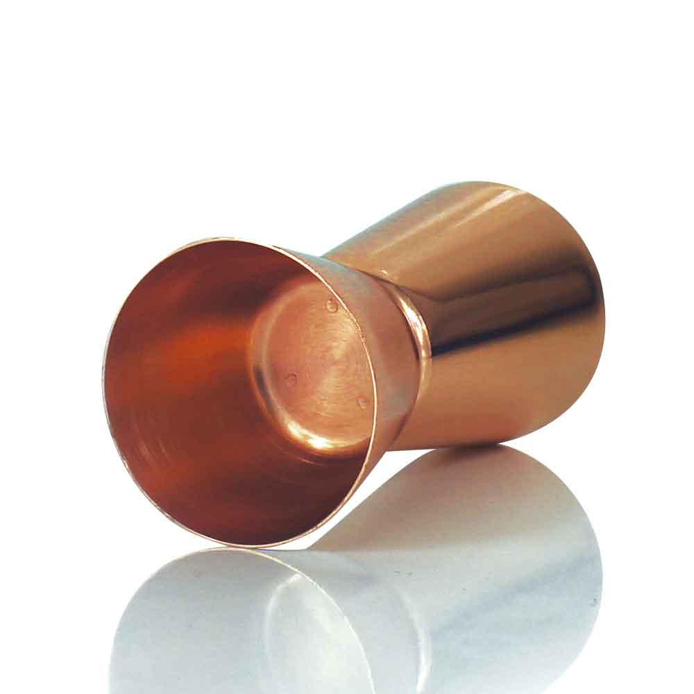 Dosador Duplo Inox com Banho de Cobre 30ml e 50ml