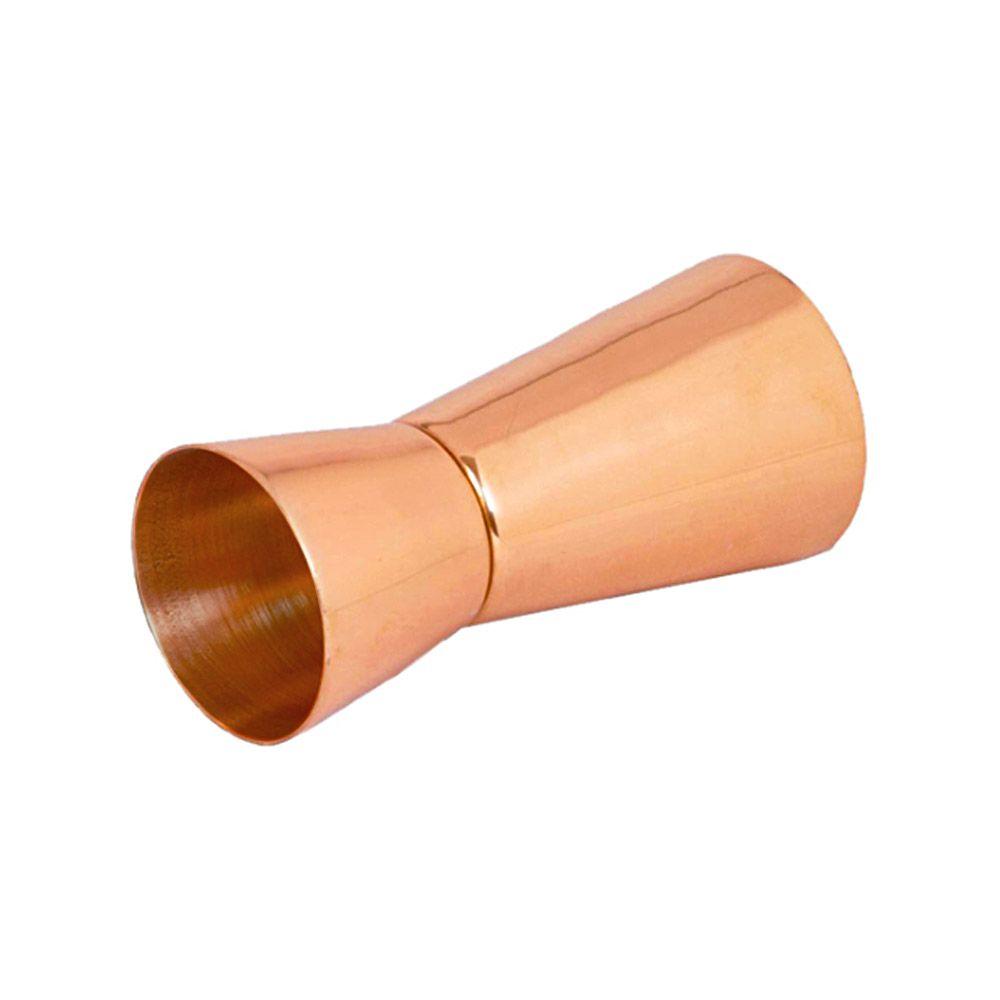 Dosador Duplo Inox Cobreado Rosê Gold 30ml e 50ml