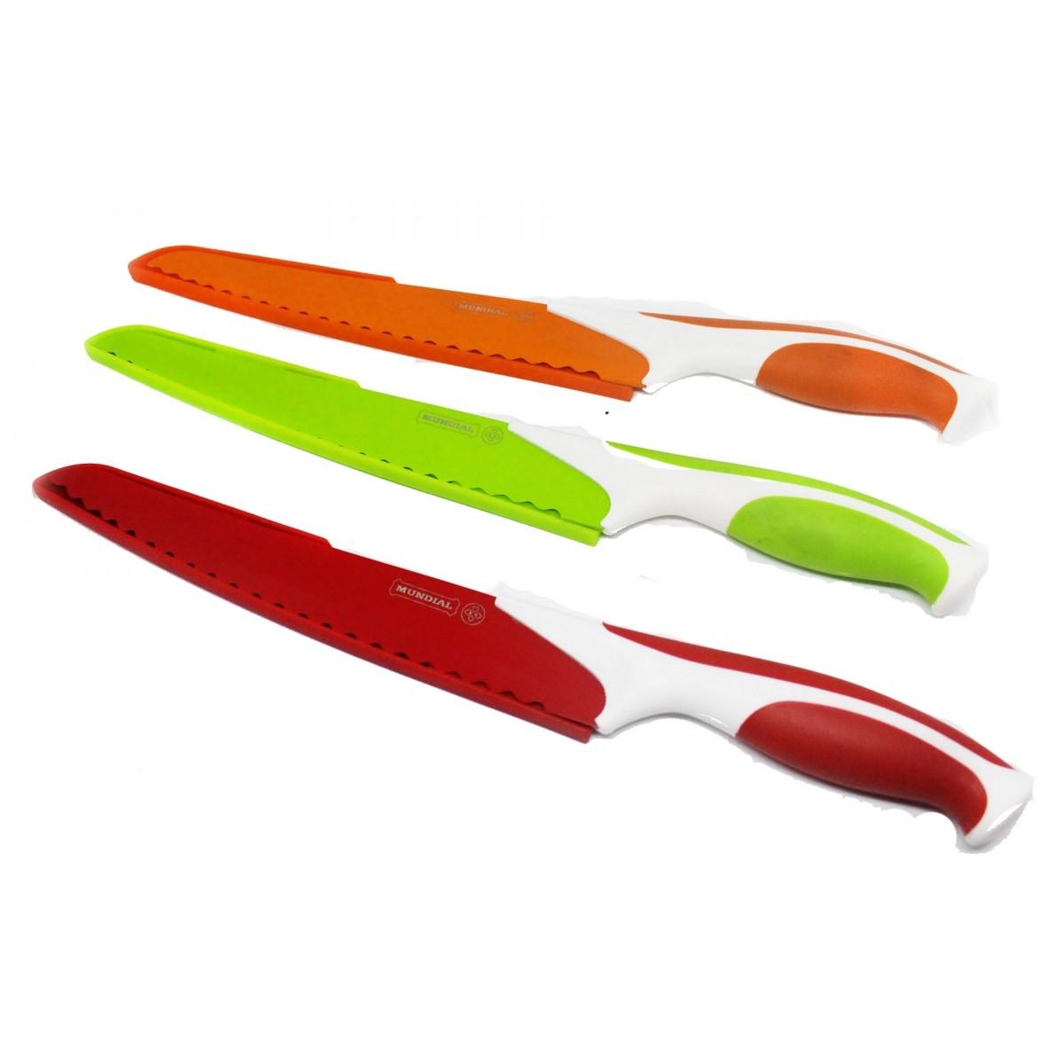 """Faca Gourmet 8"""" para Abacaxi - Colorida"""
