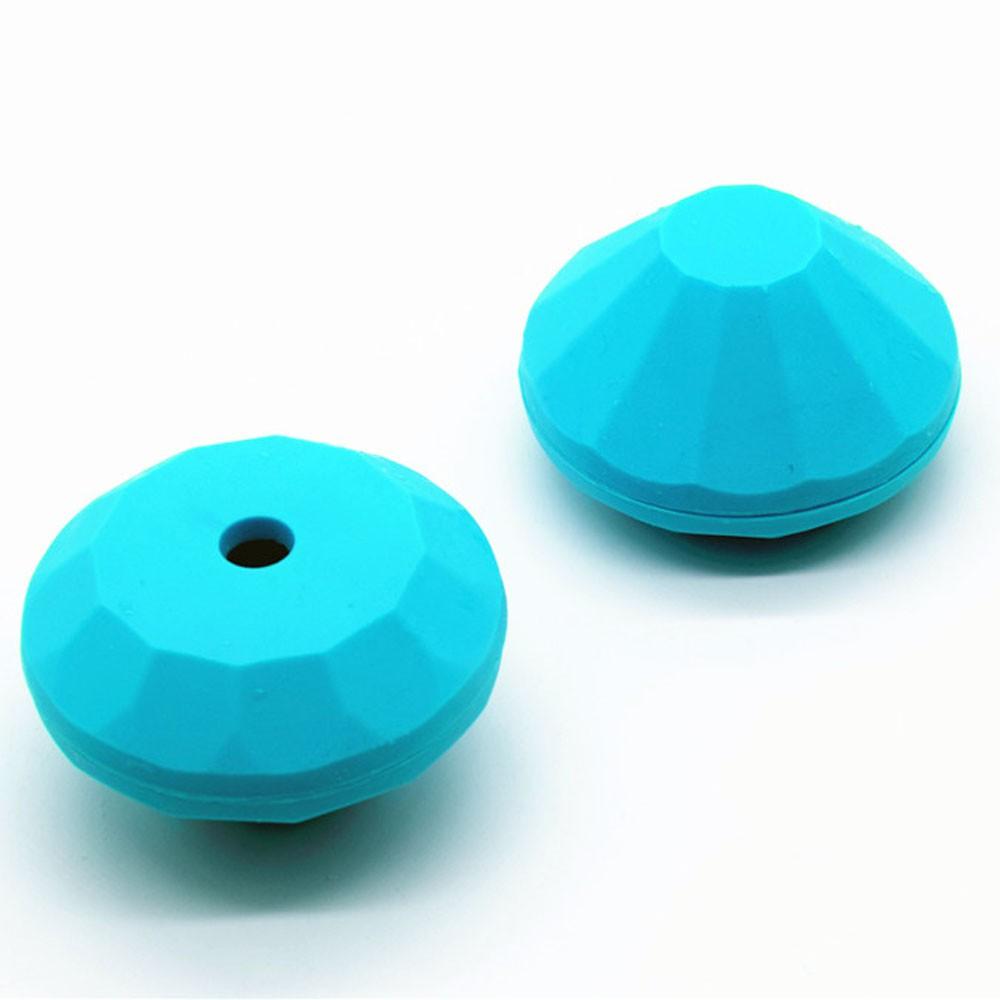 Forma Azul formato Diamante Pequeno de Silicone para Gelo