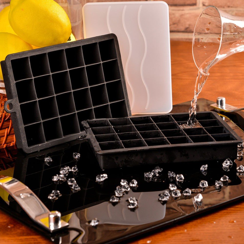 Forma de Gelo 24 Cubos Em Silicone Weck