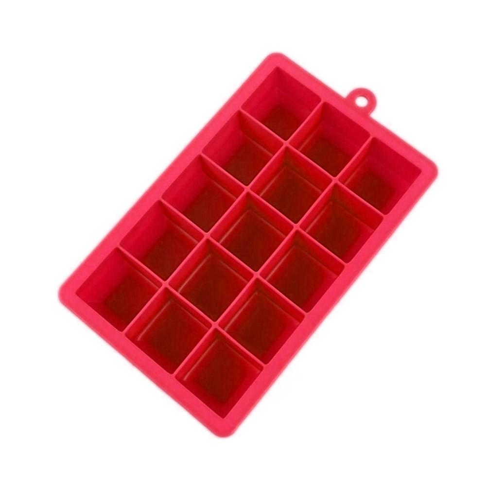 Forma de Gelo De Silicone Retangular com 15 Cubos 3cm UnyHome