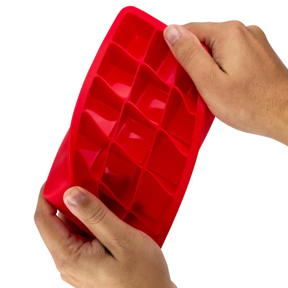 Forma de Gelo de Silicone com Tampa 15 Cubos Mimo Style