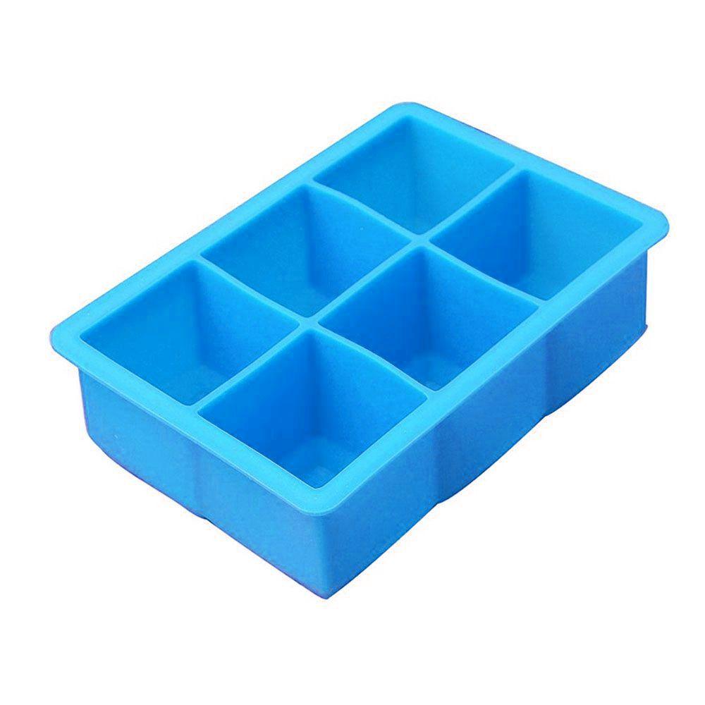 Forma de Gelo Quadrada Grande 5cm Silicone Cubo Azul