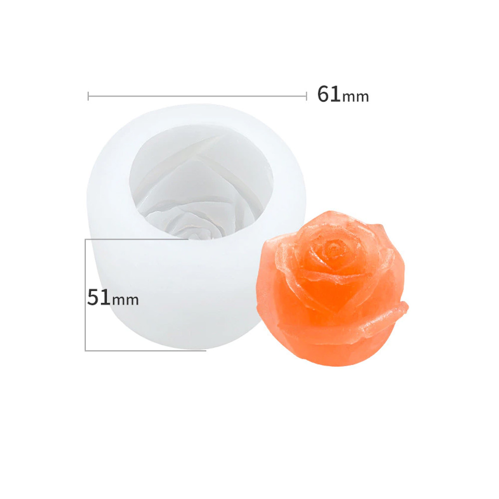 Forma de Gelo Silicone Botão de Rosa Solitário
