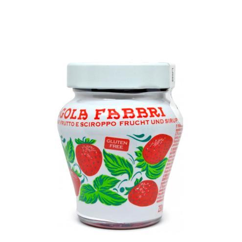 Fragola Fabbri Fruto Morango em Calda 230g Pote de Vidro