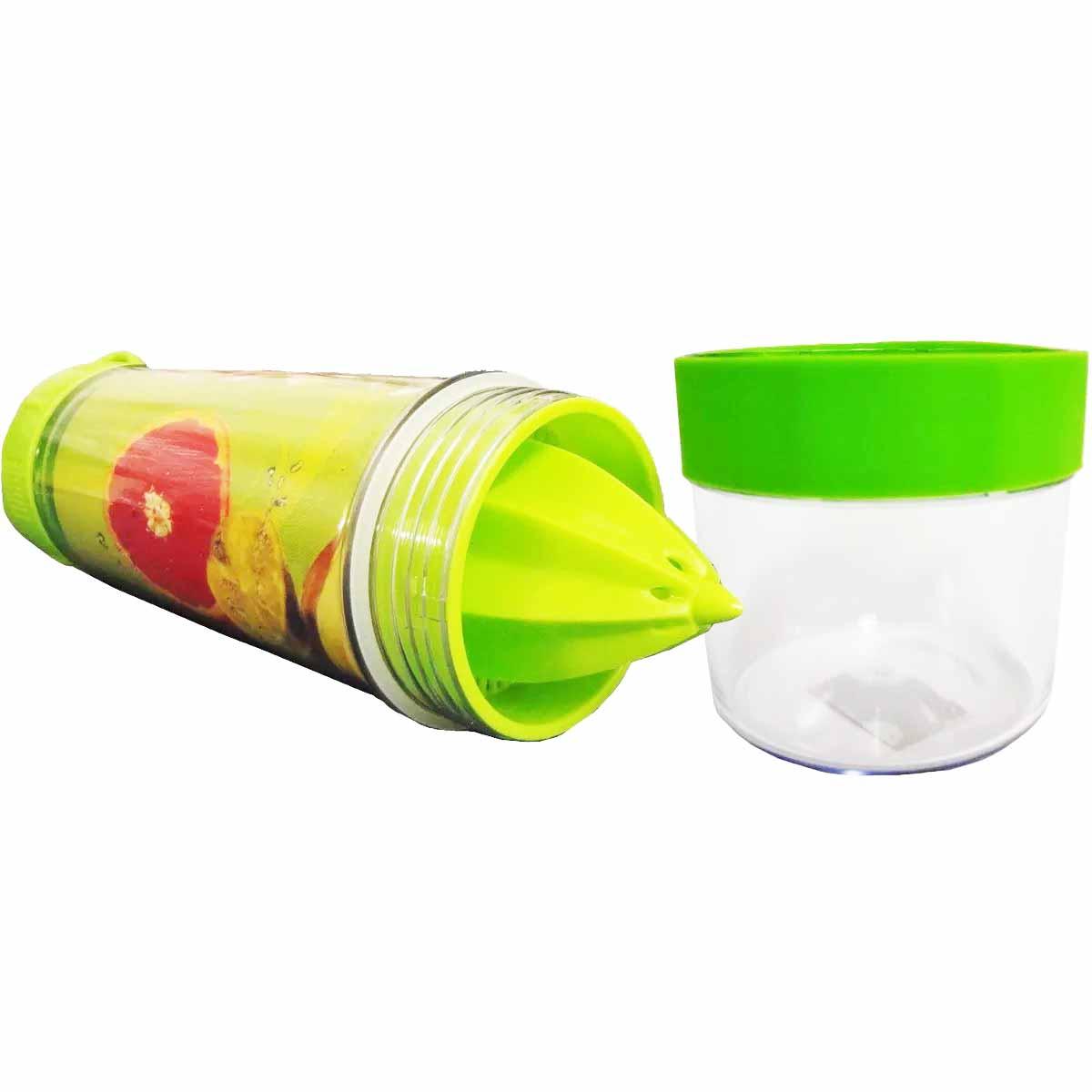 Garrafa Squeeze Plástica com Mini Espremedor