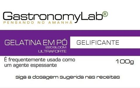 Gelatina em Pó 100g - GastronomyLab
