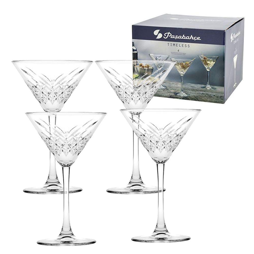 Jogo 4 Taças Martini Coquetel 230ml Pasabahce Timeless