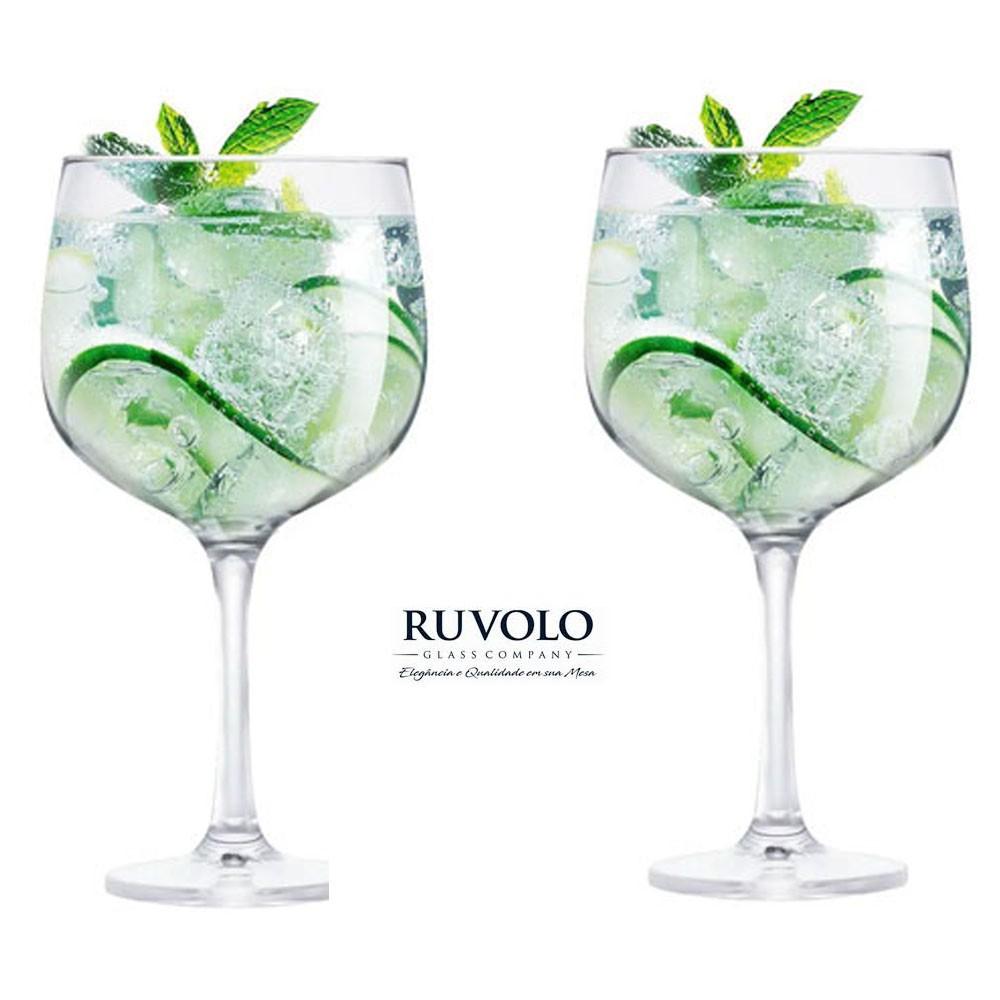 Jogo Com 2 Taças De Gin Gambo Transparente 705 ml