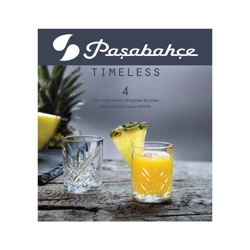 Jogo de 4 Copos Vidro Shot Aperitivo  60ml Pasabahce Timeless