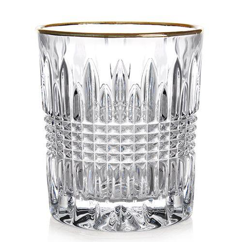 Jogo de 6 Copos Edimburgo Gold Rim em Cristal Ecologico 260ml