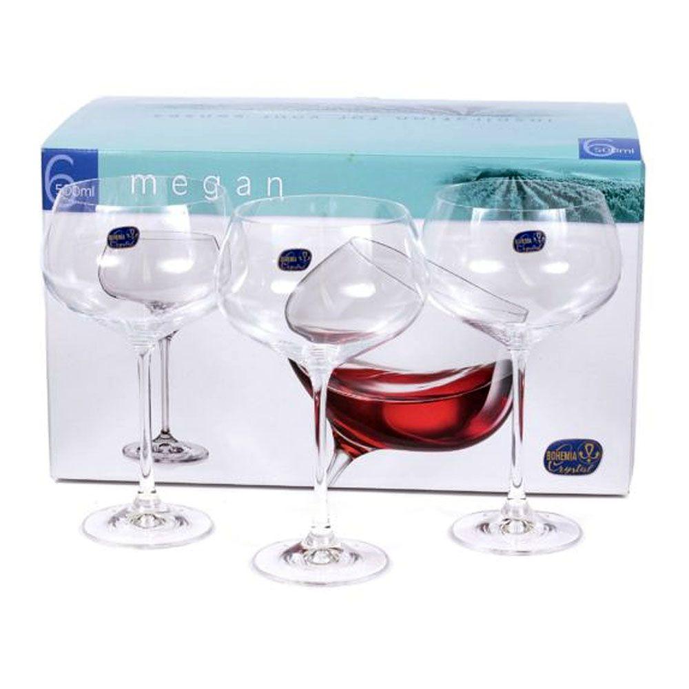 Jogo de 6 Taças Coupe Cristal Megan Gin Tônica 500 ml