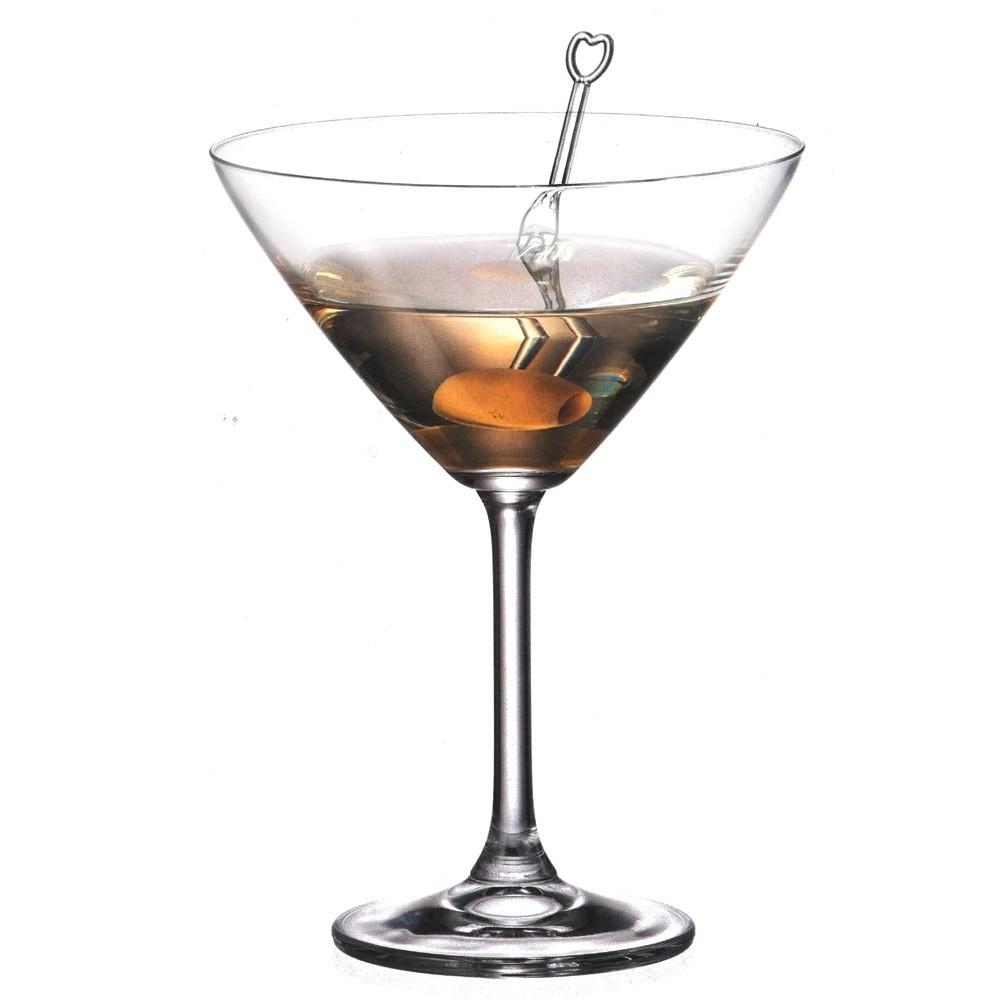 Jogo de 6 Taças Cristal Titanium Martini Colibri 280ml Bohemia