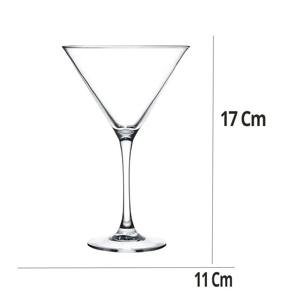 Jogo de Taça Martini Lucas com 3 Peças 230ML  Kaveh Glass