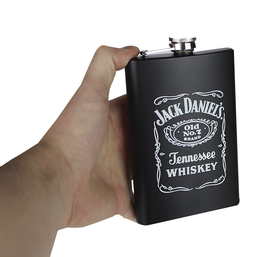 Kit Cantil de Whisky 270 ML e 4 Copos Shot Jack Presente