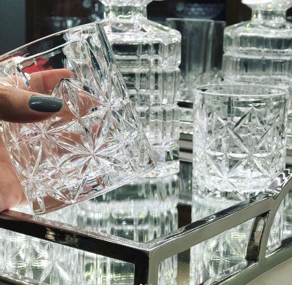 Kit com 6 Copos Para Whisky de Vidro 300ml Stella