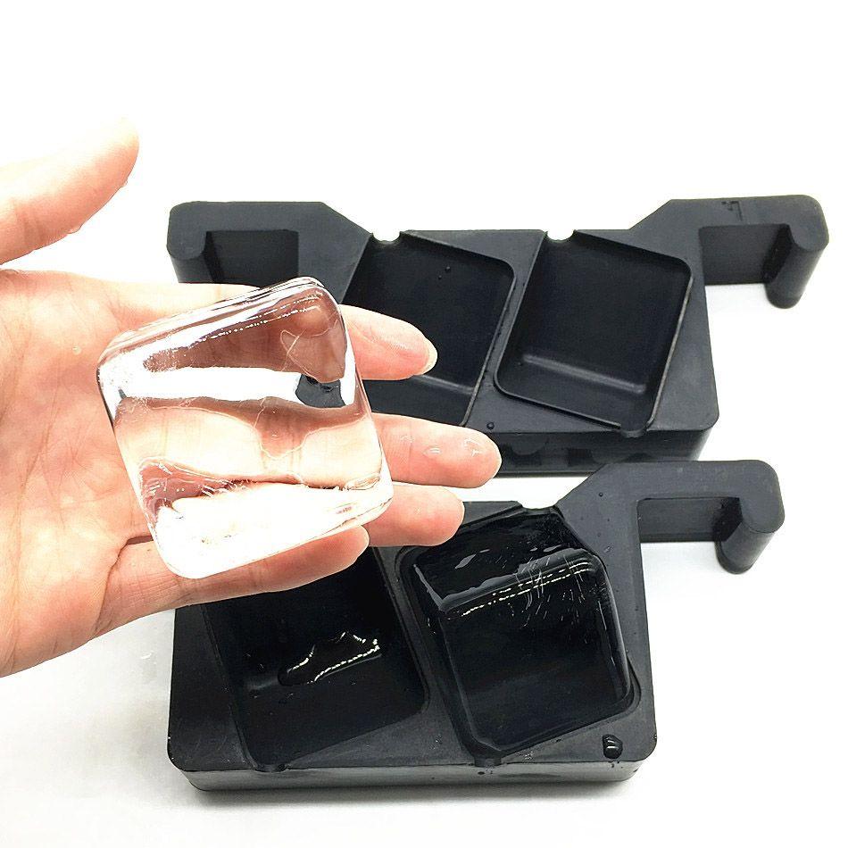 Kit Forma de Gelo Transparente Quadrada Ice Cube Maker Profi