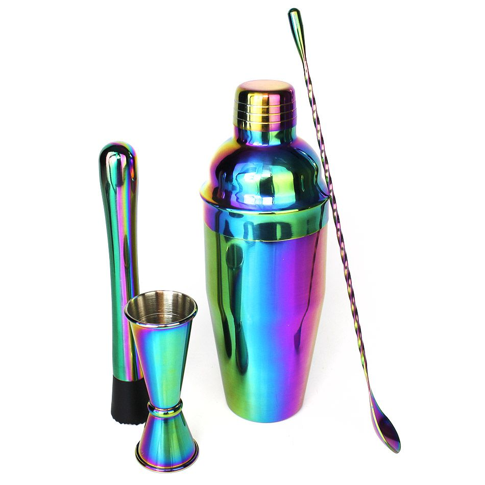 Kit Home Bar Utensílios Rainbow Color