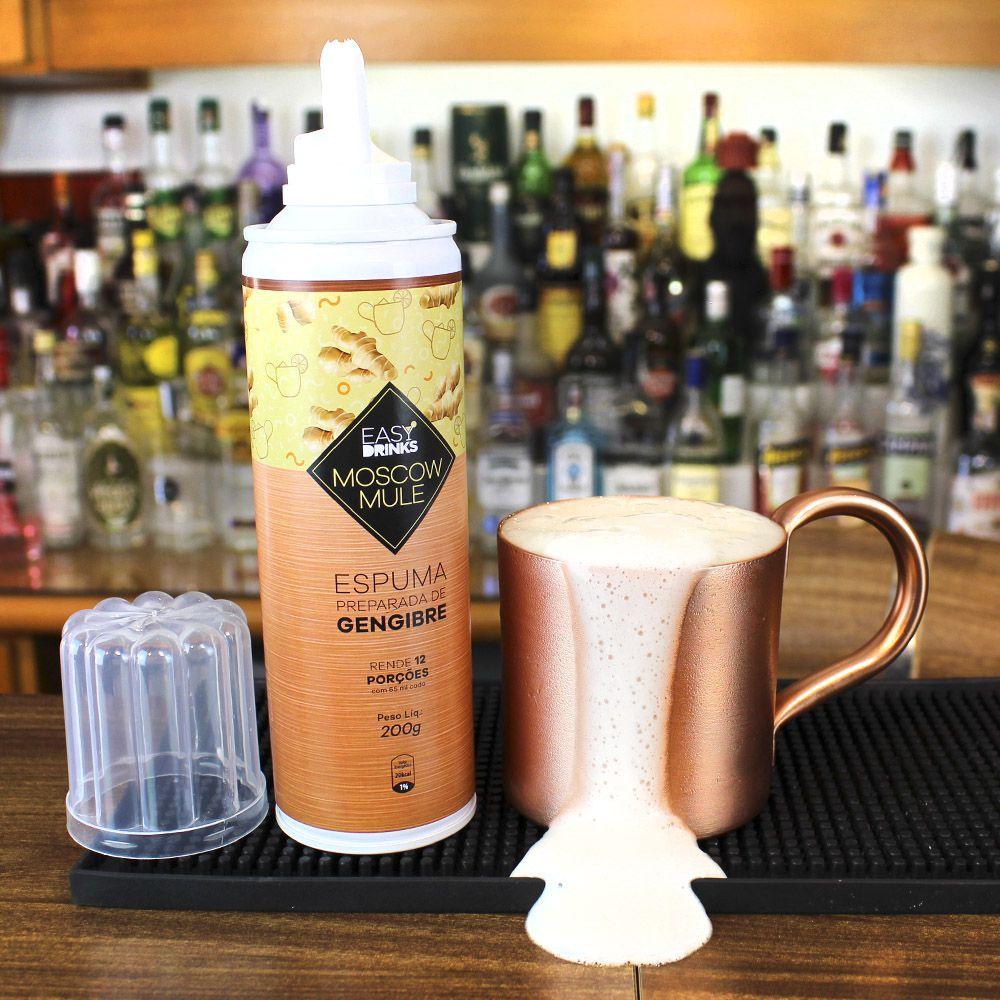 Kit Moscow Mule Espuma de Gengibre, 3 Ginger Ale e 1 Caneca