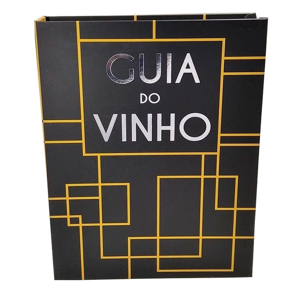 Kit para Vinho Cor Dourado Com 5 Pecas Guia do Vinho