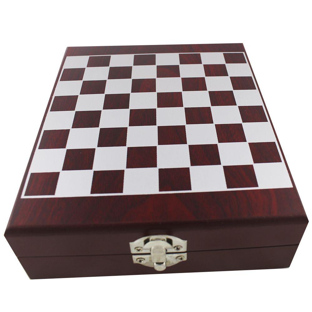 Kit de Vinho Caixa com 4 Peças e Tabuleiro de Xadrez