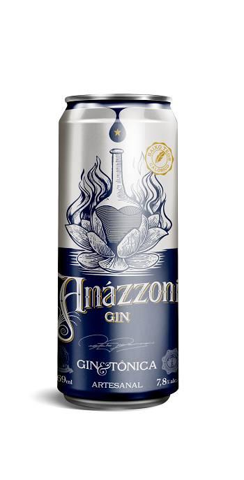 Lata Gin Tônica Amazzoni 269ml
