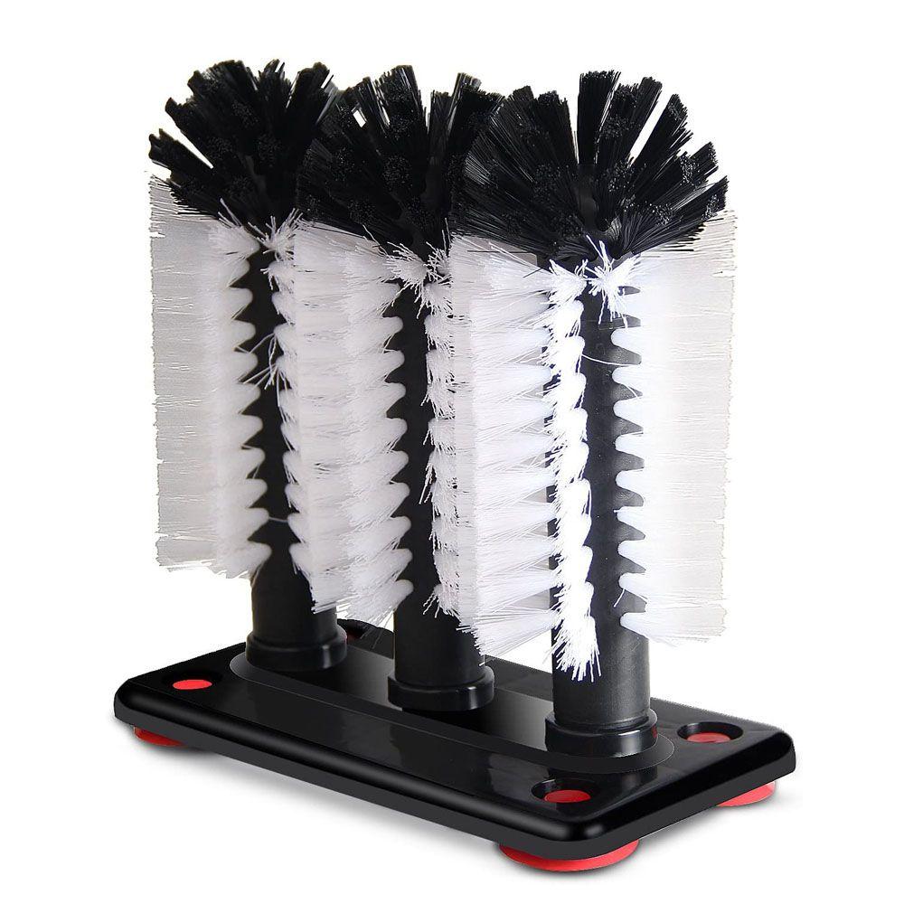 Lava Copos Três Escovas Profissional com ventosas