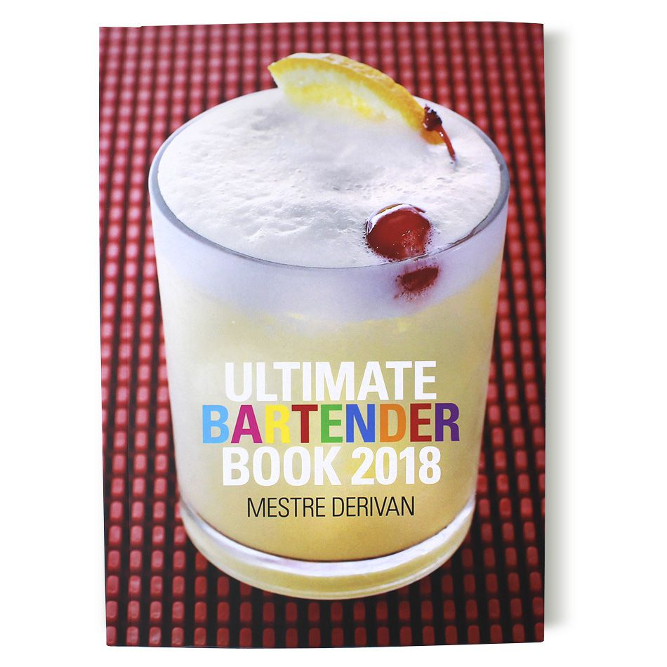 Livro Ultimate Bartender Book 2018 - Receitas e Manual