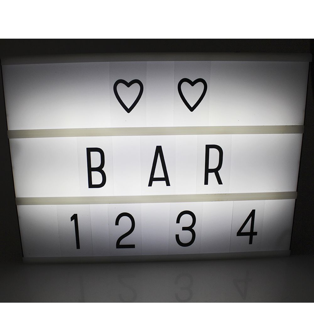 Luminoso Led Box Cinema Com 96 Letras Números Símbolos
