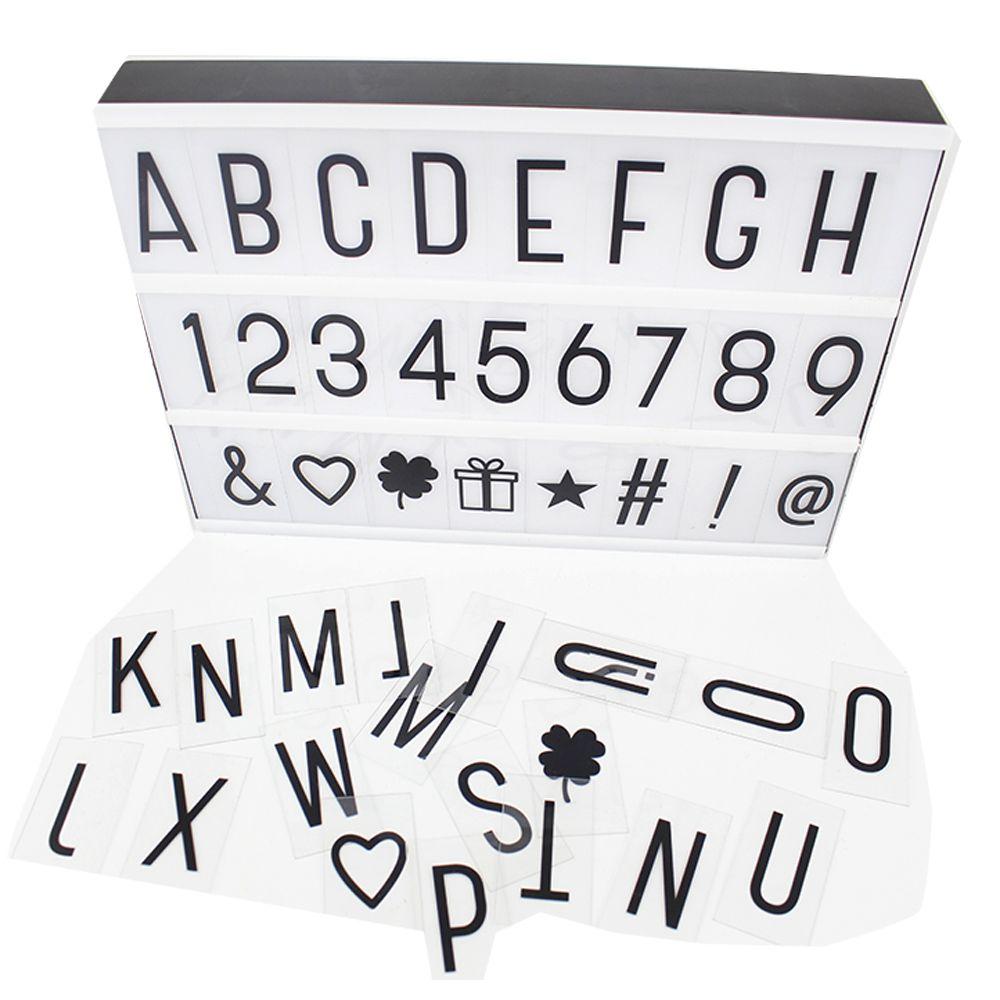 Luminoso Led Box Cinema Com 96 Letras Números Símbolos