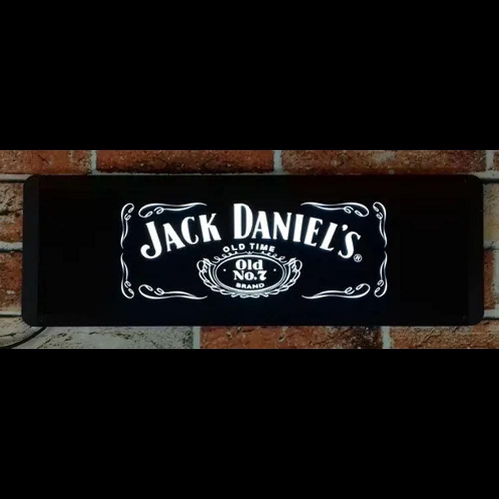 Luminoso Led Jack Daniel's Retangular de Parede 50 cm