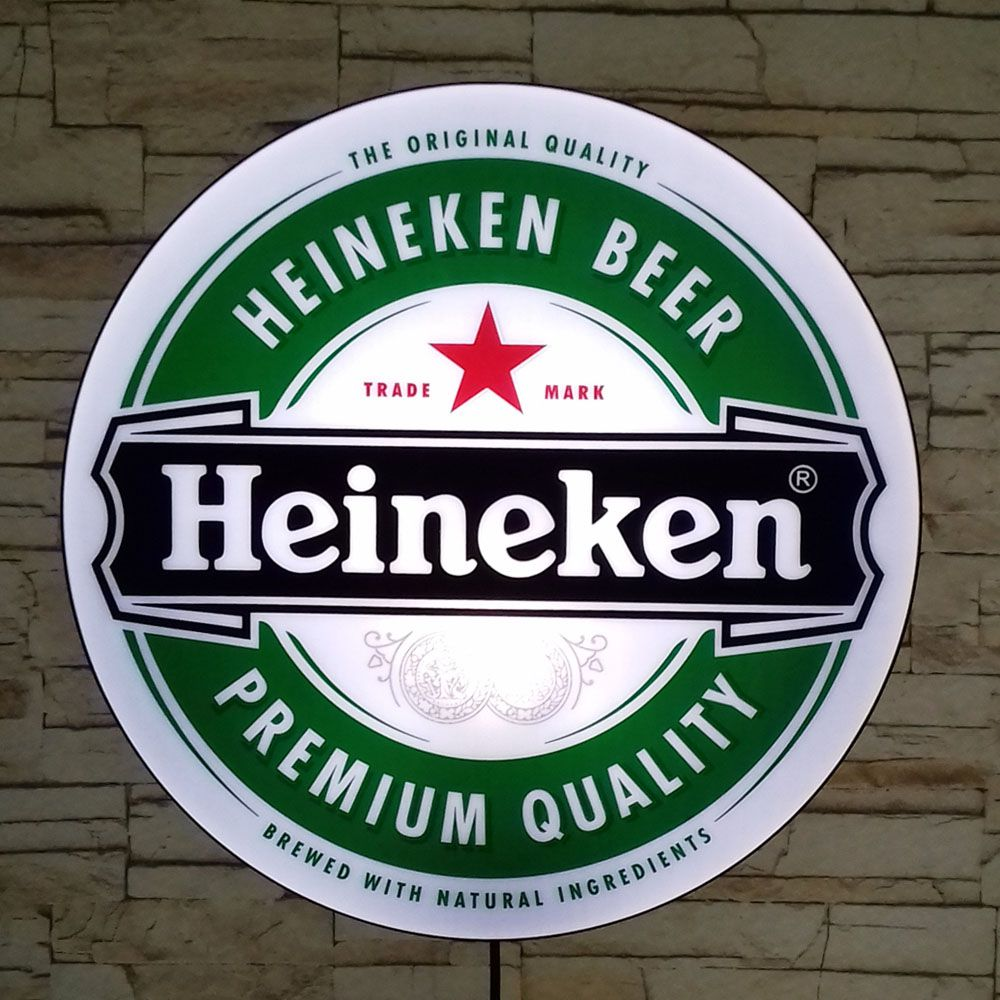 Luminoso Retro Heineken 40cm Decor Parede