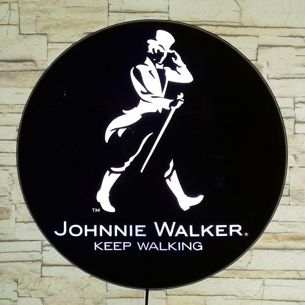Luminoso Retro Johnnie Walker 40cm Decor Parede