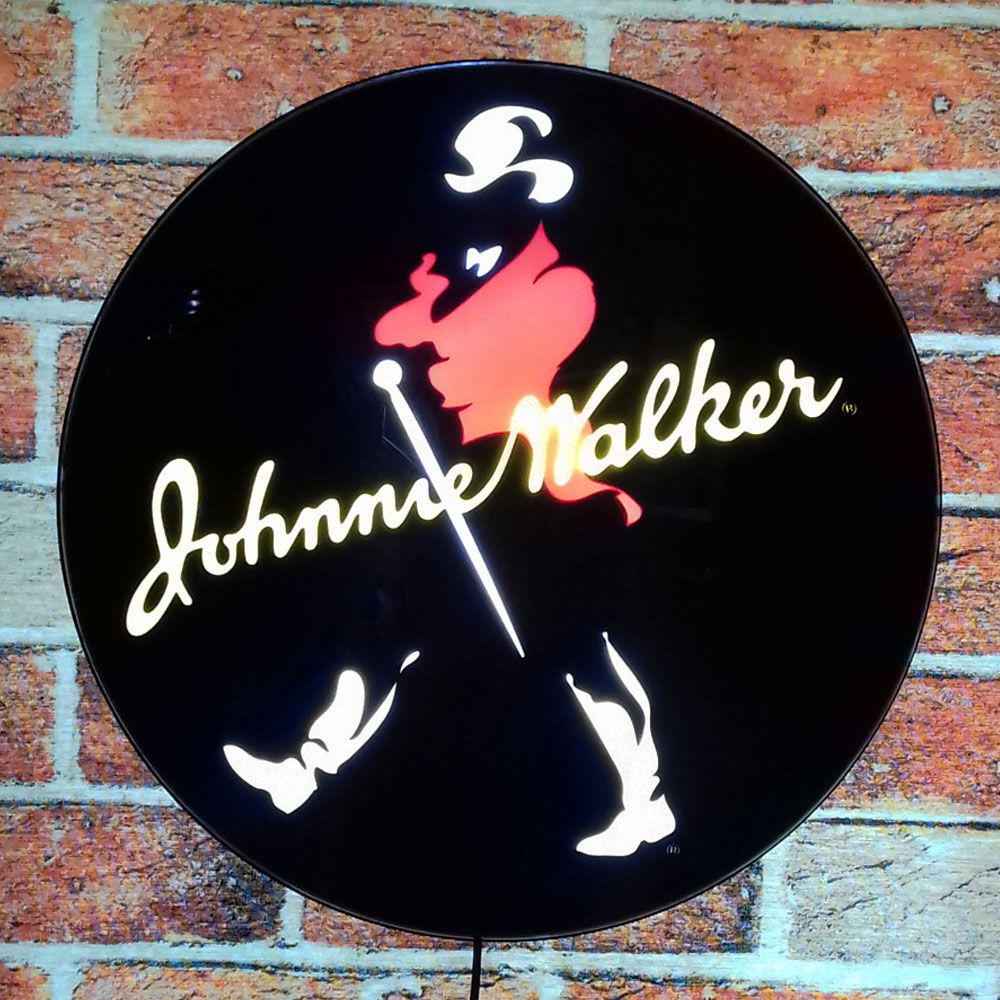 Luminoso Retro Johnnie Walker Colorido 40cm Decor Parede