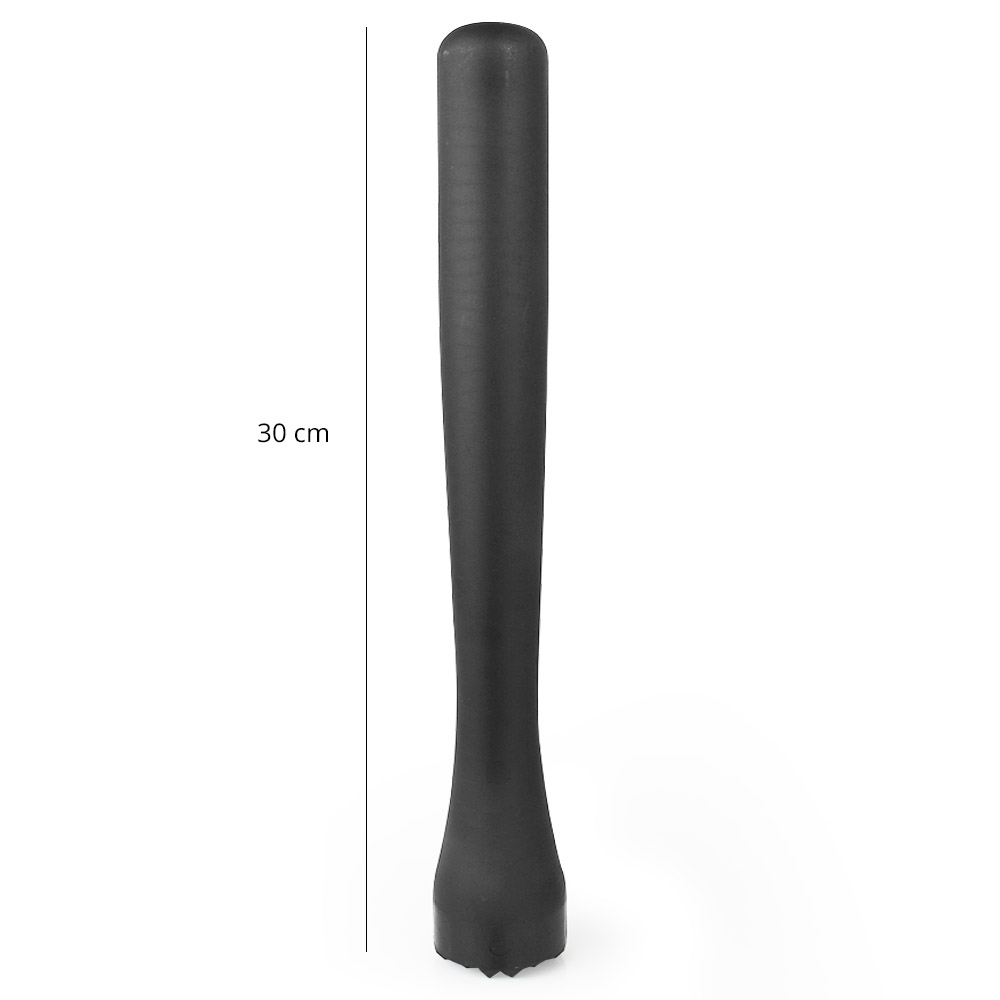 Macerador Dentado Plástico ABS Socador 30cm Preto XIN