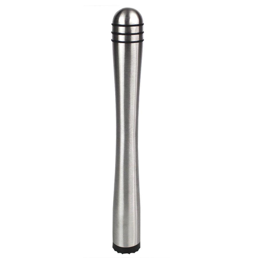 Macerador em Inox 21,5cm com Ponta Dentada Preta