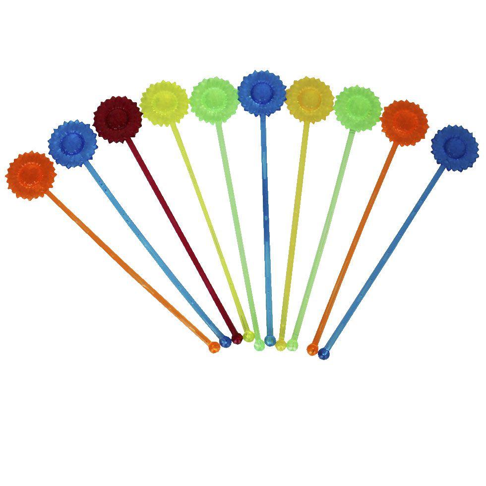 Mexedor Neon Girassol para Drink Colorido 20 unidades