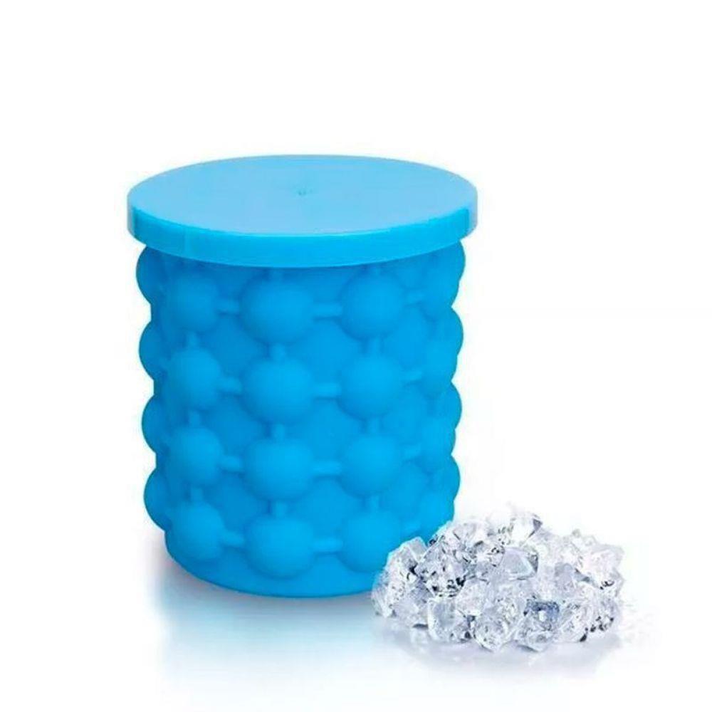 Mini Balde Forma De Gelo Em Silicone Ice Magic