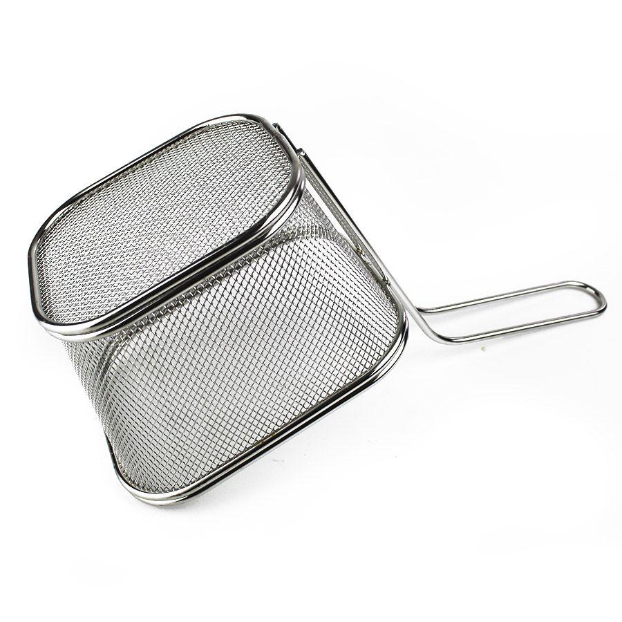 Mini Cesta Inox para Batata Frita Porções 13x11x8cm  - 3252