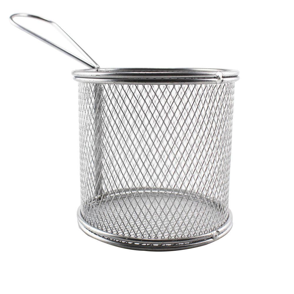 Mini Cesta Oval em Inox para Batata Frita e Porções